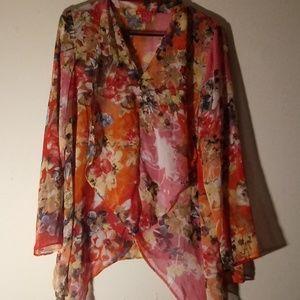Beautiful multicolor flower blouse